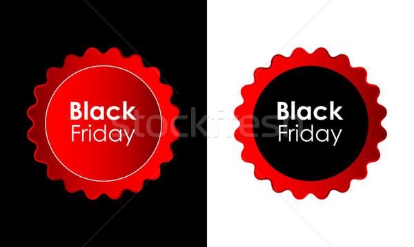 Black friday eladó promóciós hirdetés címkék üzlet Stock fotó © place4design