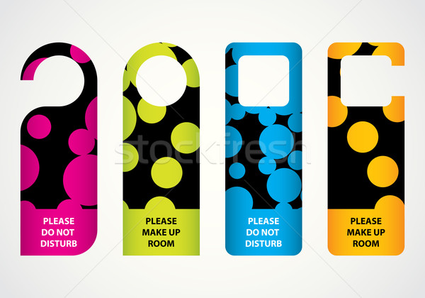 hotel do not disturb door hanger with special dotted design Stock photo © place4design