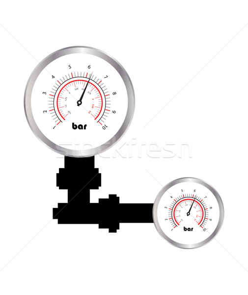 special manometer on white background Stock photo © place4design