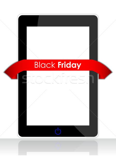 Realista telefone móvel especial vermelho black friday fita Foto stock © place4design
