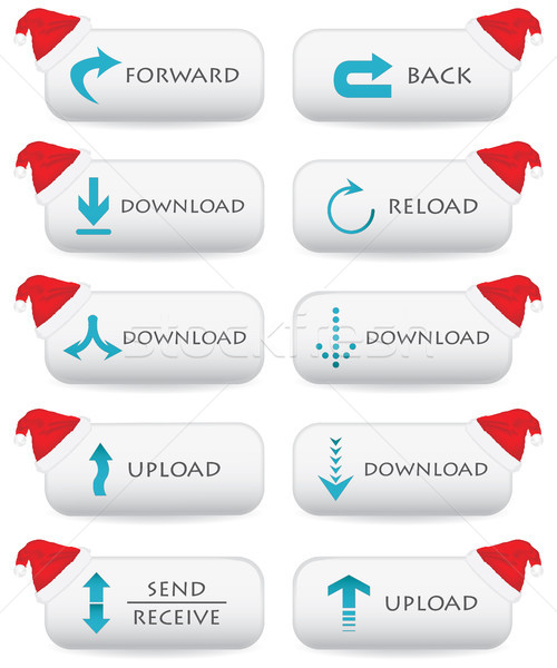 Website buttons - Christmas edition Stock photo © place4design