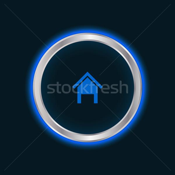 Web sitesi ev düğme vektör eps10 iş Stok fotoğraf © place4design