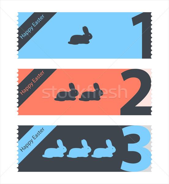 один Пасху билеты вечеринка счастливым дизайна Сток-фото © place4design