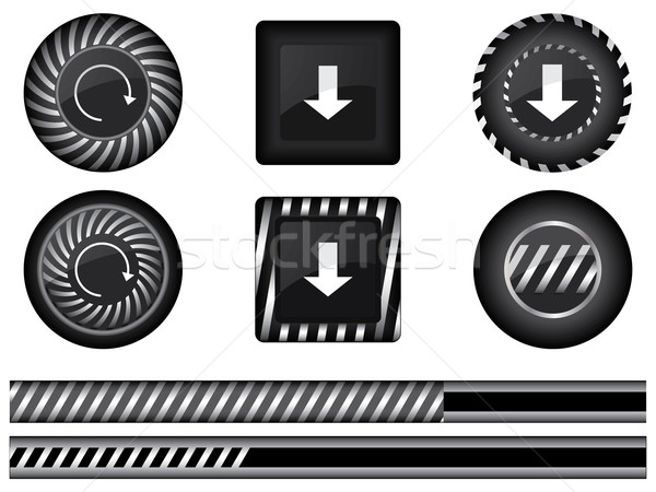 Collection of special modern preloaders and buffering elements Stock photo © place4design