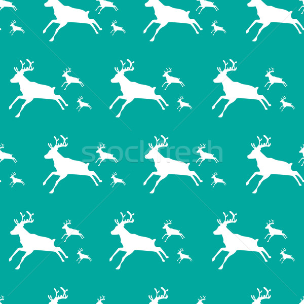 Christmas pattern with special deers Stock photo © place4design