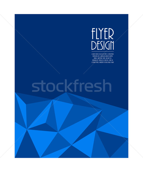 Business flyer moderne driehoek ontwerp abstract Stockfoto © place4design