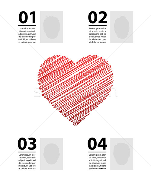 Dia dos namorados vetor casamento coração fundo cor Foto stock © place4design
