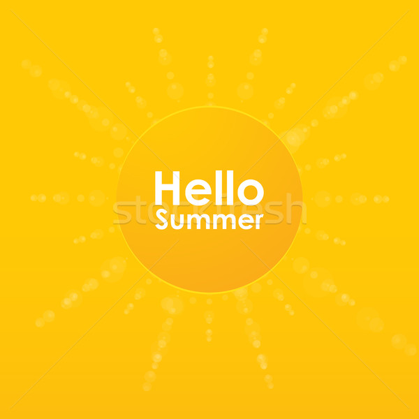 Summer background with a special sun burst, vector design, eps10 Stock photo © place4design