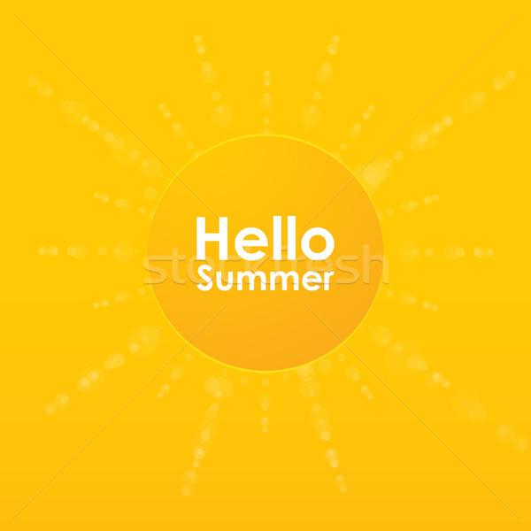 Sommer besondere Sonne Burst Vektor Design Stock foto © place4design