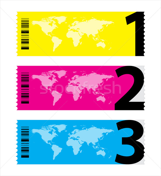 set of colorful vector sample stickers Stock photo © place4design