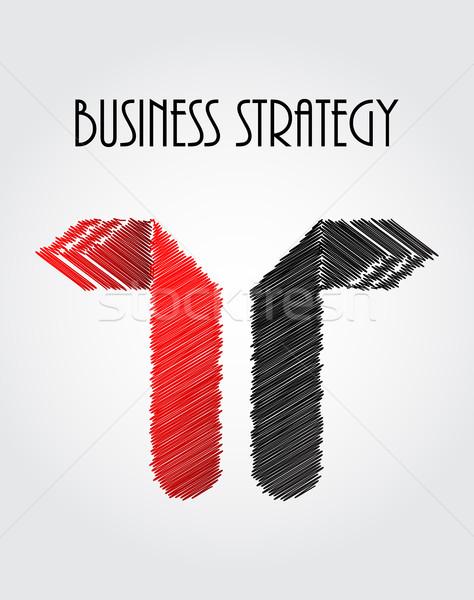 Abstract business pijlen origami ontwerp kunst Stockfoto © place4design