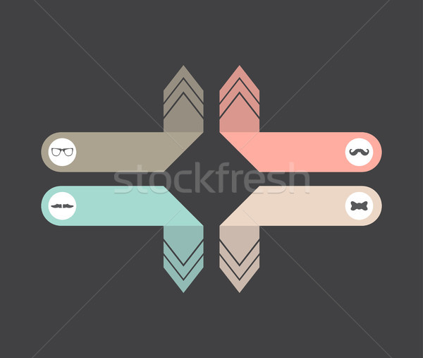 special hipster background with hipster elements Stock photo © place4design