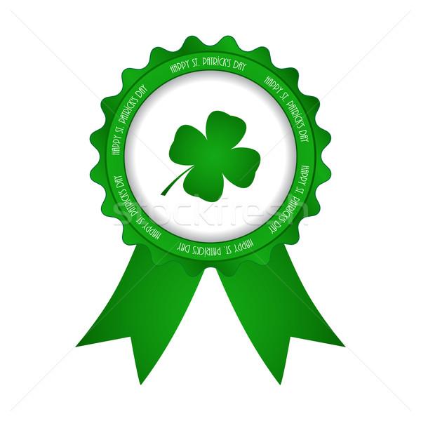 Feliz dia de São Patricio distintivo primavera publicidade irlandês Foto stock © place4design