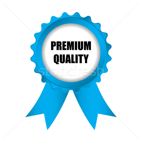 special premium quality blue badge with ribbons, vector illustra Stock photo © place4design