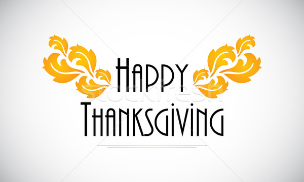 Happy Thanksgiving  background with special flower design Stock photo © place4design
