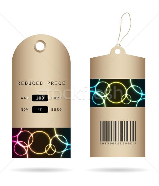 Especial papel precio etiquetas plasma diseno Foto stock © place4design