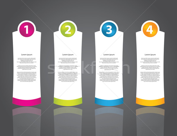 advertising label set with numbered buttons Stock photo © place4design
