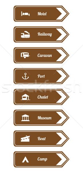 Tourist locations icon set  Stock photo © place4design