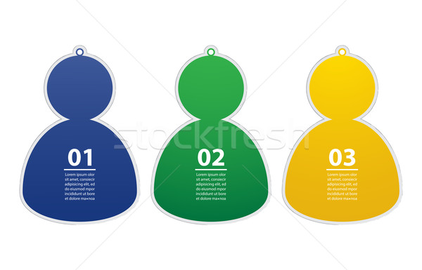 Soccer/Football team player stickers, Vector illustration,Eps10 Stock photo © place4design