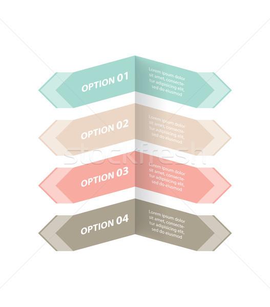 Seçenekleri afiş özel dizayn iş kâğıt Stok fotoğraf © place4design