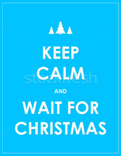 keep calm modern christmas background Stock photo © place4design
