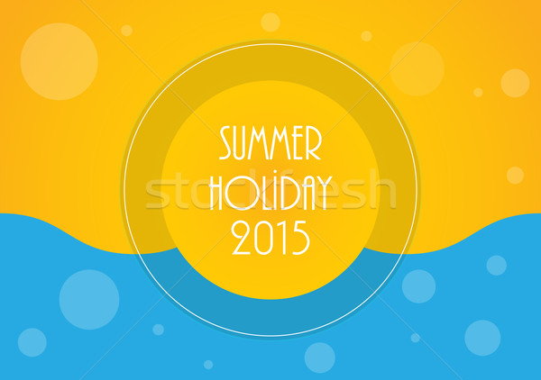 Summer holiday background, Vector illustration, eps10 Stock photo © place4design