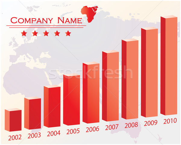 Color graph for design and business concept - red vector Stock photo © place4design