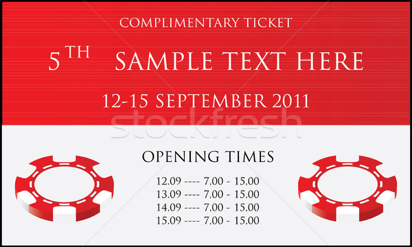 Isolated event ticket Stock photo © place4design
