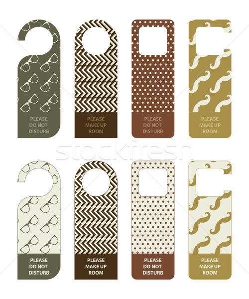 hotel do not disturb door hanger with hipster design Stock photo © place4design