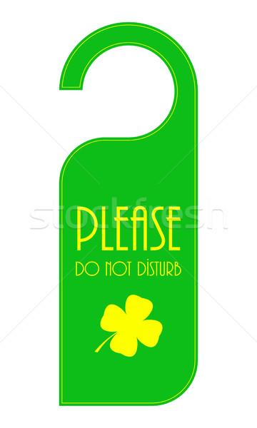 двери День Святого Патрика дизайна вечеринка зеленый Сток-фото © place4design