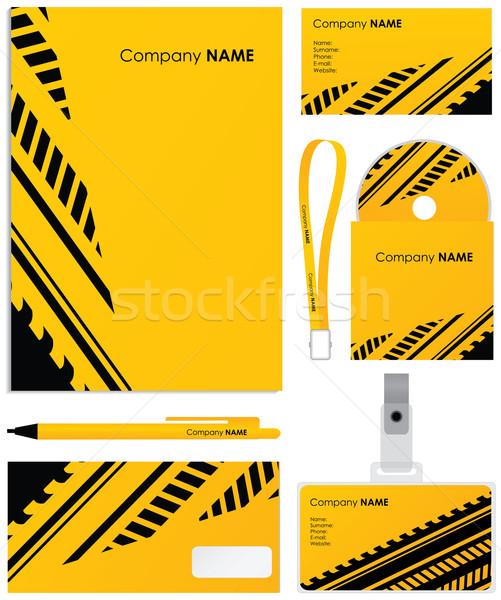 şablon vektör boş kart cd kapak Stok fotoğraf © place4design