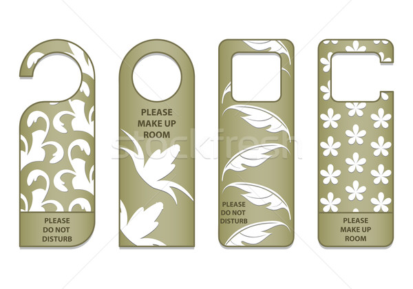 do not disturb sign with special design Stock photo © place4design