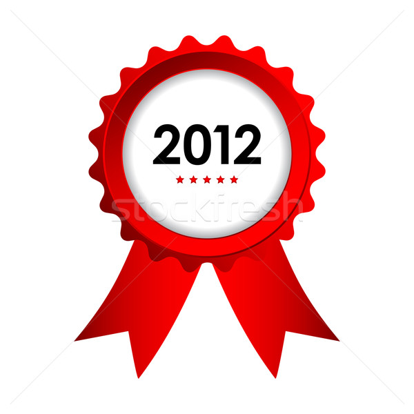 special label with red ribbons - best of 2012 sign Stock photo © place4design