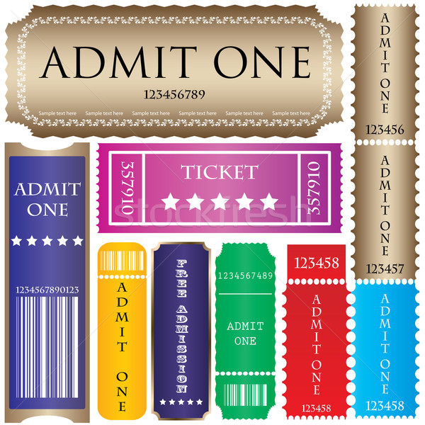 set of ticket admit one vector  Stock photo © place4design