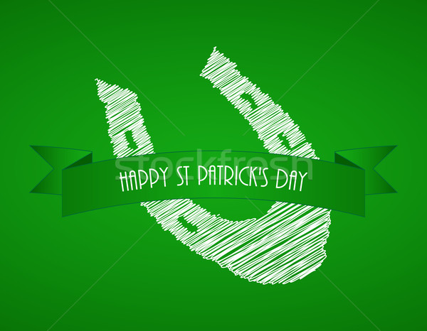 green St.Patrick's day background with a special white shod Stock photo © place4design