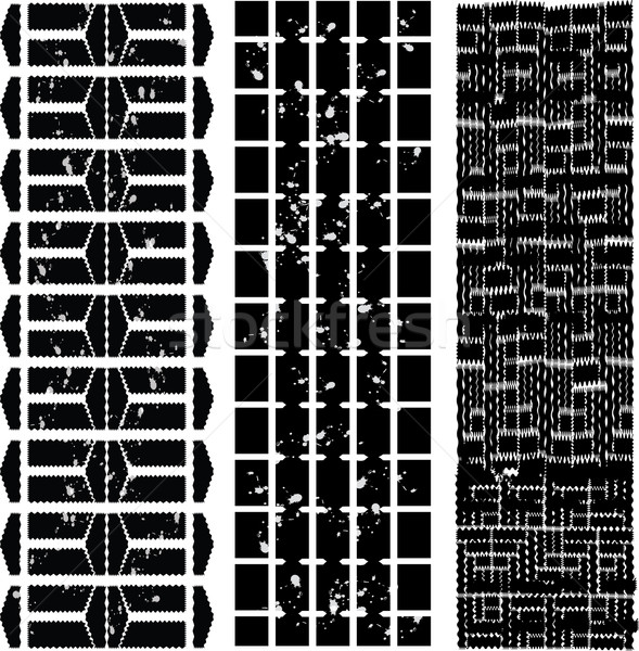 different tyre tracks with dirt - black-white Stock photo © place4design