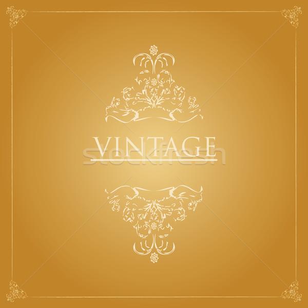 Vintage кадр бумаги текстуры знак ретро Сток-фото © place4design