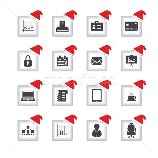 Especial ui ícones natal projeto teia Foto stock © place4design
