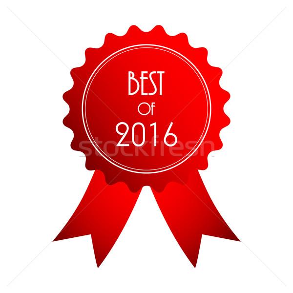 Meilleur 2016 rouge badge affaires design Photo stock © place4design