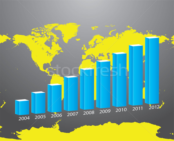 Color graph for design and business concept Stock photo © place4design