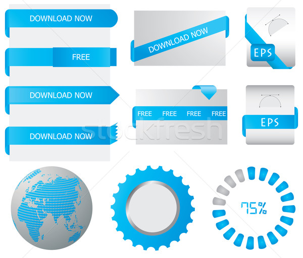 Website download buttons Stock photo © place4design