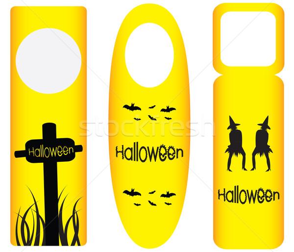 do not disturb door hanger with halloween design Stock photo © place4design