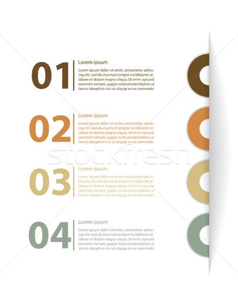 Modernes modèle de conception site affaires papier fond Photo stock © place4design