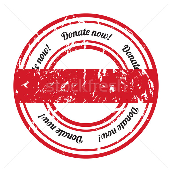 donate grunge rubber stamp with special design Stock photo © place4design