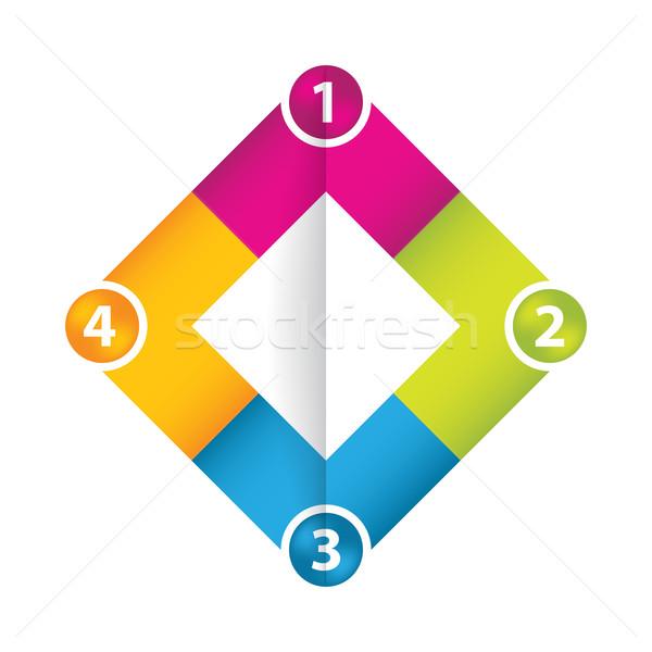 ストックフォト: 現代 · ビジネス · 折り紙 · スタイル · オプション · バナー