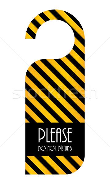 Niet deur hanger papier teken ontspannen Stockfoto © place4design
