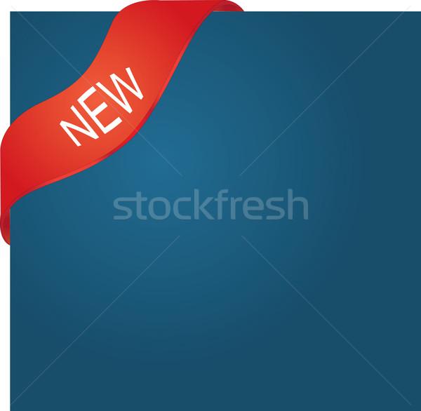 Foto d'archivio: Nuovo · rosso · angolo · nastro · design · segno