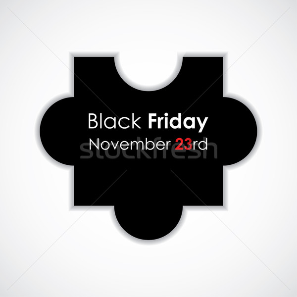 special puzzle vector illustration with black friday text Stock photo © place4design