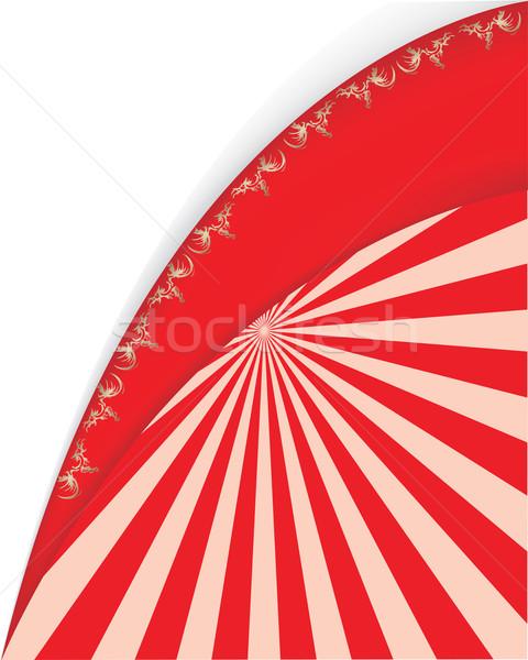 Vermelho vetor projeto arte retro papel de parede Foto stock © place4design