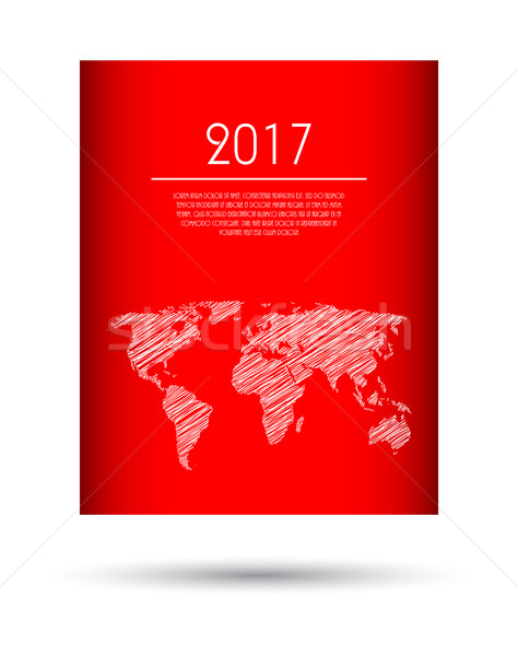 Moderne vector abstract brochure business flyer Stockfoto © place4design